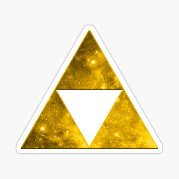 Triforce, Ancient Magical Symbol, Sierpinski Triangle, Galaxy Sticker
