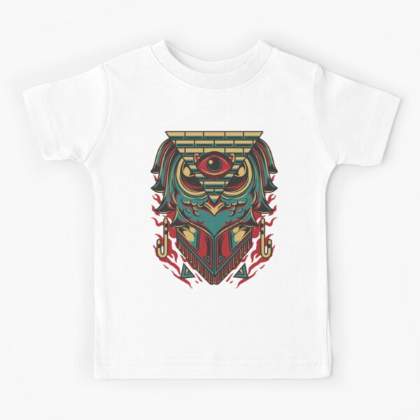Eye of Ra I Sign Enfants Fille T-Shirt Dieu égyptien HORUS PHARAON Falcon Sun