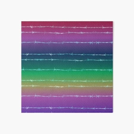 Rainbow barbed wire Art Board Print