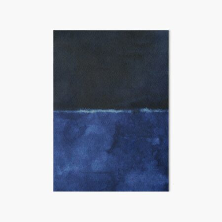 Mark Rothko Pintura Estilo Arte Dark Blue 6 Lámina rígida