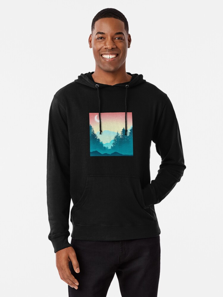 Alternate view of Sunset in the Candy Mountains Lightweight Hoodie