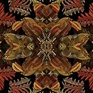 Fall Fractal Wreath (for Phone cases) by Lyle Hatch