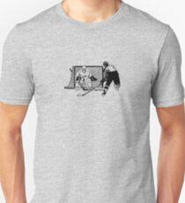 Shot On Net Hockey Sketch - Male T-Shirt