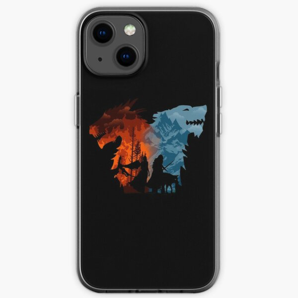 El fuego y la nieve Funda blanda para iPhone