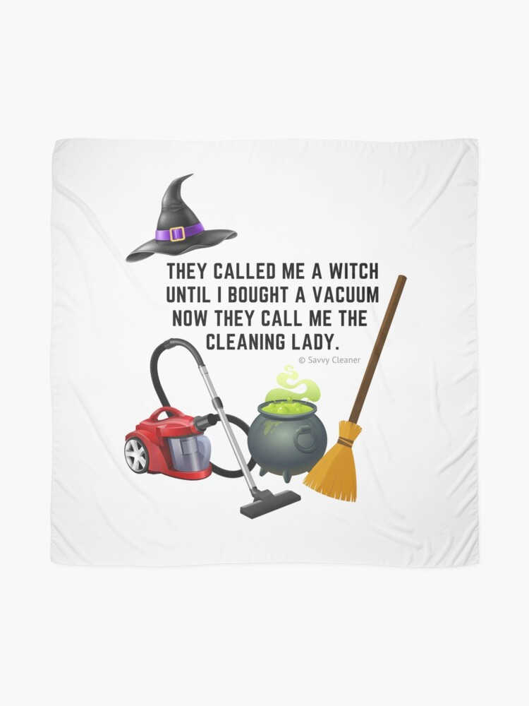 Alternate view of Funny Halloween Cleaning Shirts and Gifts Scarf