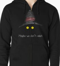 Maybe We Don't Exist - Final Fantasy IX (Vivi) Zipped Hoodie
