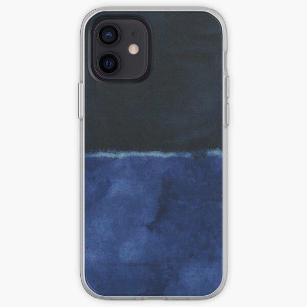 Mark Rothko Painting Style Art Dark Blue 7 iPhone Soft Case
