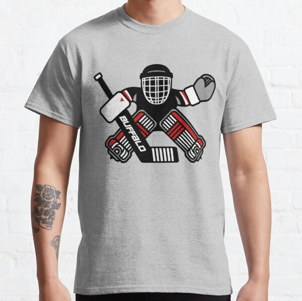 Dominik Hasek Buffalo Hockey Goalie Cartoon Classic T-Shirt