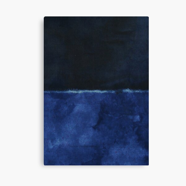 Mark Rothko Painting Style Art Dark Blue 8 Canvas Print