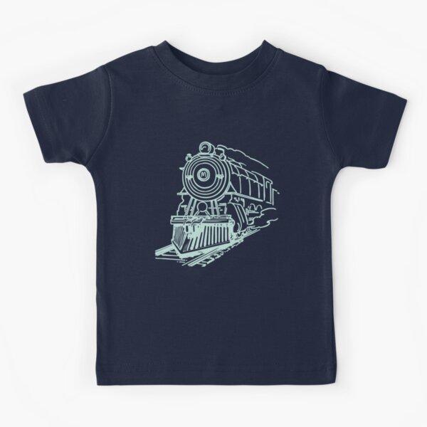 vintage train illustration Kids T-Shirt