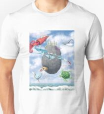 Floating Castle and Flying Fish T-Shirt