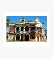 Recreation Hotel Boulder Western Australia Art Print