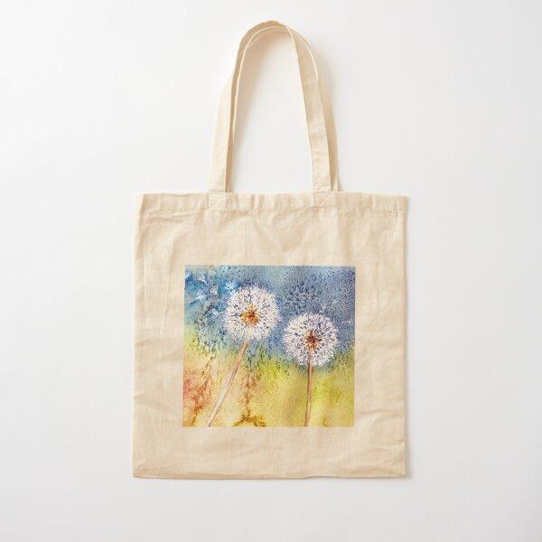 Dandelion Clocks Cotton Tote Bag