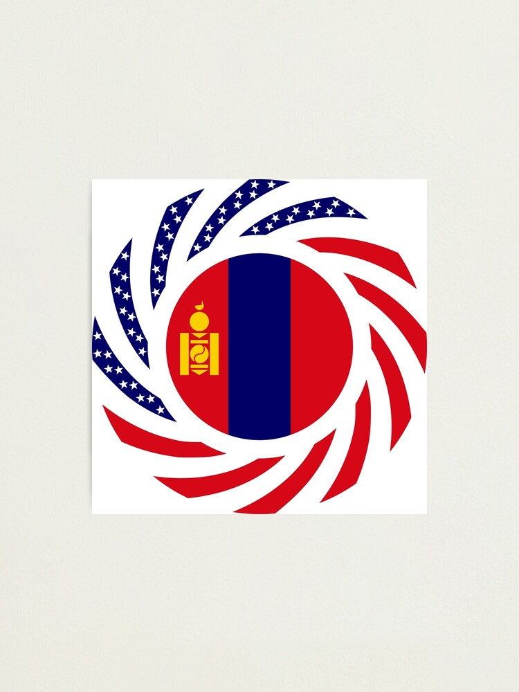 Alternate view of Mongolian American Multinational Patriot Flag Series Photographic Print