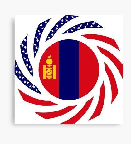 Mongolian American Multinational Patriot Flag Series Canvas Print