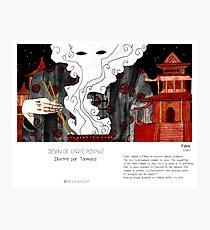 """ Pékin "" en Mots & Image (Tarmasz) Photographic Print"