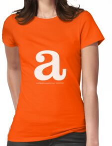 'a' typographic t-shirt Womens Fitted T-Shirt