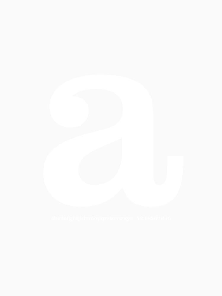 'a' typographic t-shirt von 28andsunny
