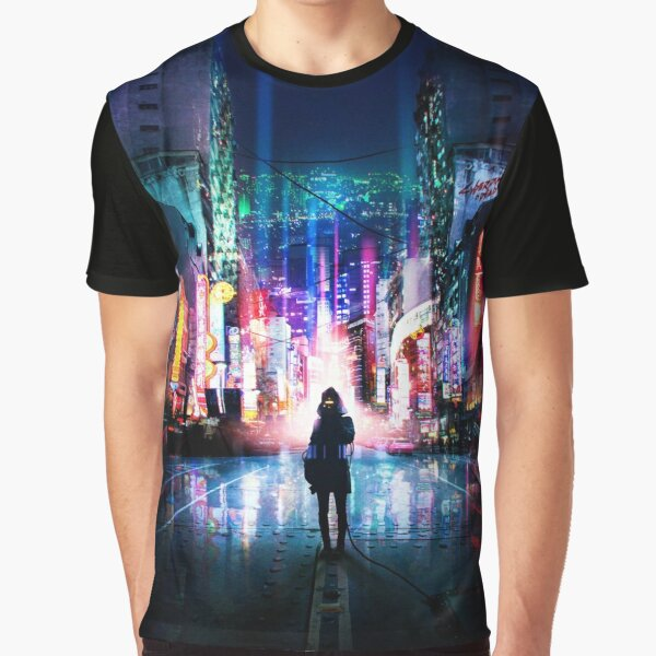 Tokyo Cyberpunk Japan Graphic T-Shirt