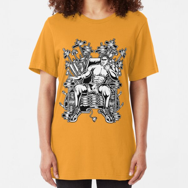 King's Throne of Barbells Slim Fit T-Shirt