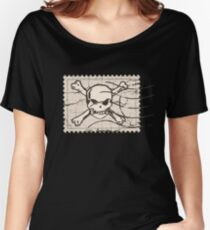Skull Crack Stamp Women's Relaxed Fit T-Shirt