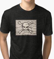 Skull Crack Stamp Tri-blend T-Shirt