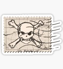 Skull Crack Stamp Sticker