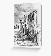 Beltany Stone Circle Greeting Card