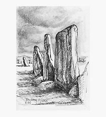 Beltany Stone Circle Photographic Print