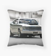1968 Plymouth 383 Duster  Throw Pillow
