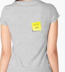 Cheesy prank Women's Fitted Scoop T-Shirt
