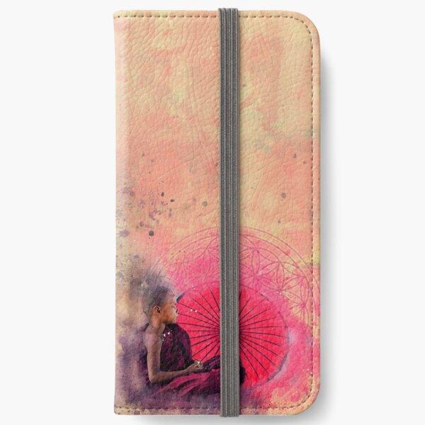Flower of life Meditation Buddha iPhone Wallet