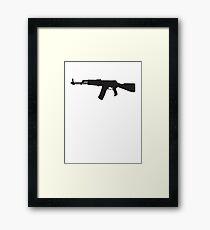 Machine Gun Rifle Framed Print