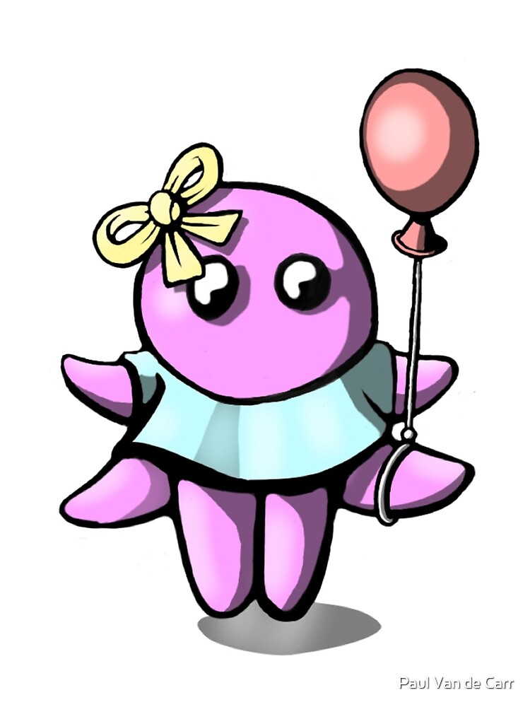 Happy Octopus with Balloon  by Octomanart