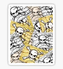 Funny Skull Stamp Sticker