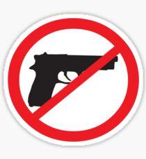 Anti-Guns Sign Sticker