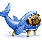 Shark Pug by Vivienne To