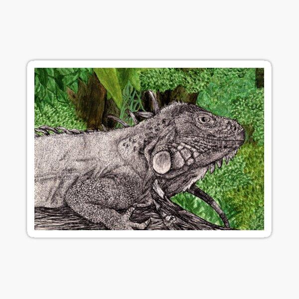 Inky Iguana Sticker