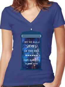 Doctor who - Stories Women's Fitted V-Neck T-Shirt
