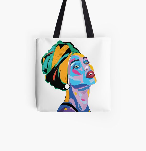 Woman of Colour  All Over Print Tote Bag