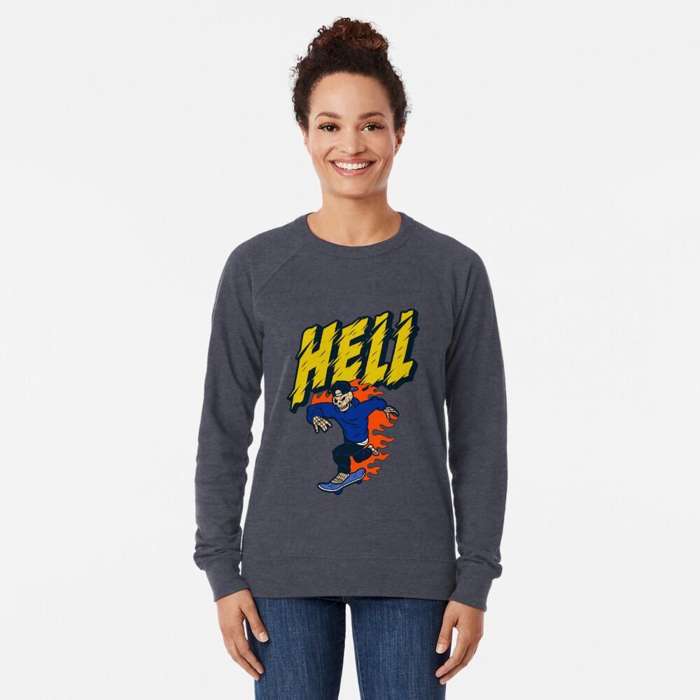 Skeleton Ride Skate Board, Lightweight Sweatshirt