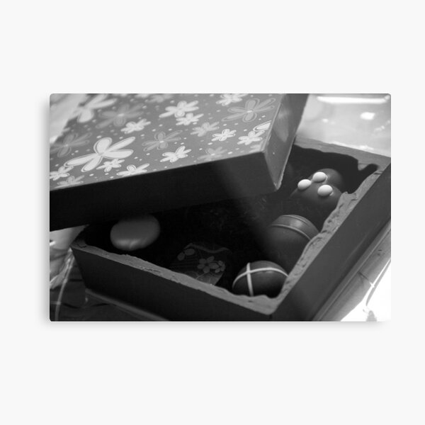 Monochrome Chocolate Box Metal Print