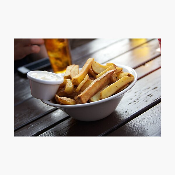Summery Bowl of Chips Photographic Print