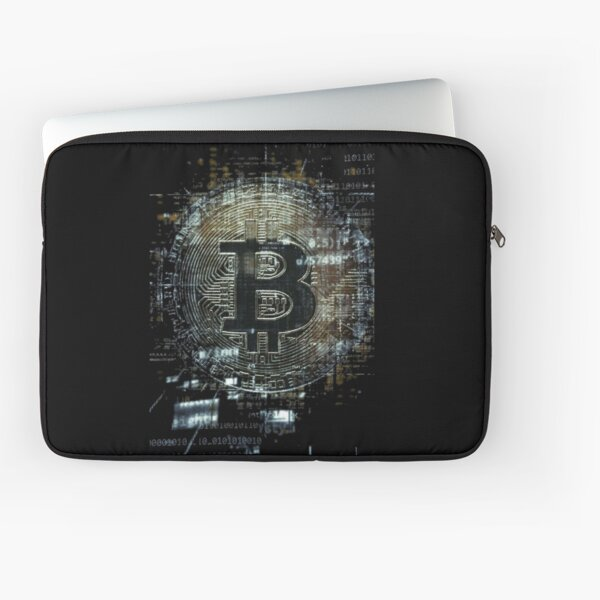 Techno cryptocurrency bitcoin Laptop Sleeve