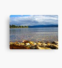 The Shores of Shuswap Lake  Canvas Print