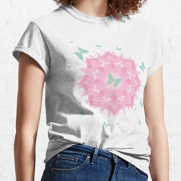 Pink Cotton Candy Mandala Classic T-Shirt