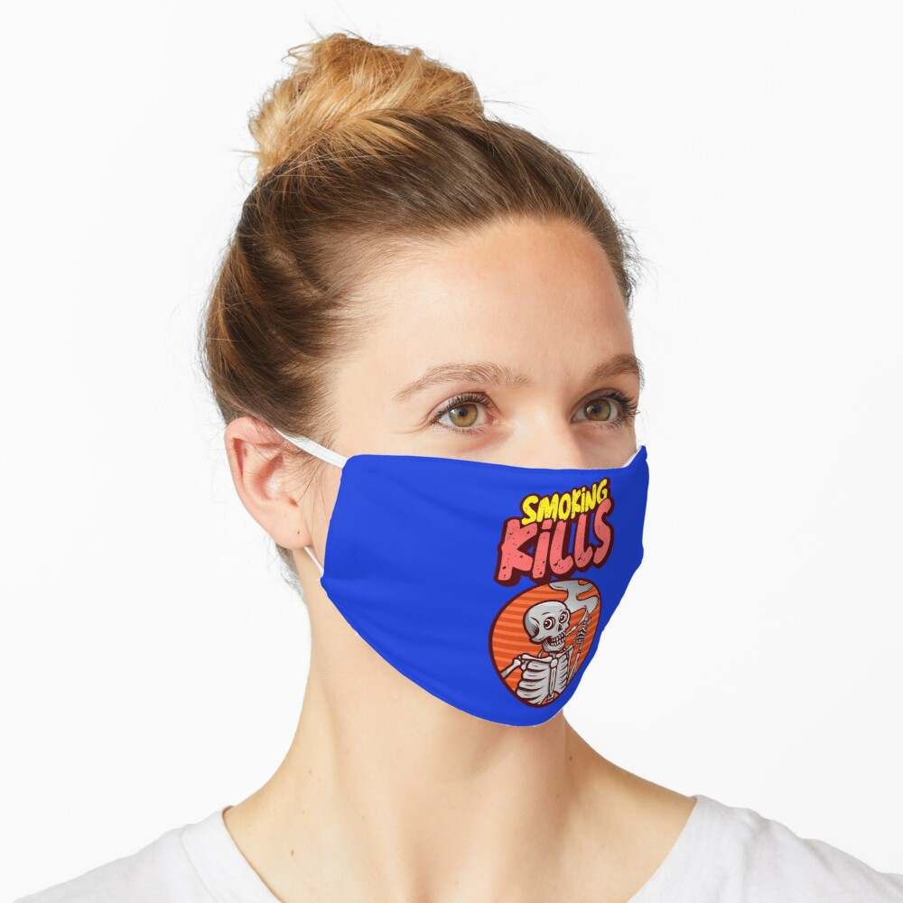 smoking kills face mask and stickers Mask
