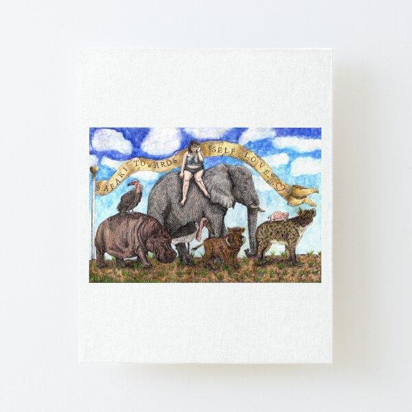 Sofie's Self Love Safari Canvas Mounted Print