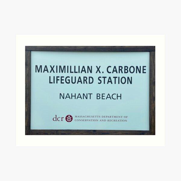 Nahant Beach Lifeguard Station Art Print