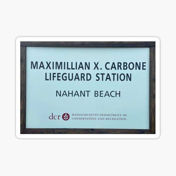 Nahant Beach Lifeguard Station Sticker